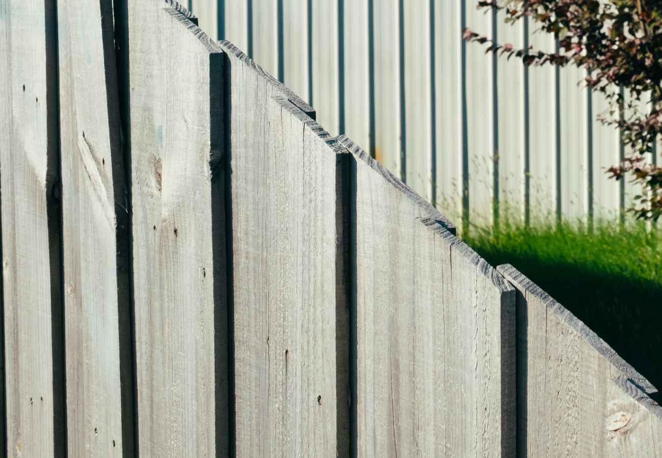 fencing in the garden