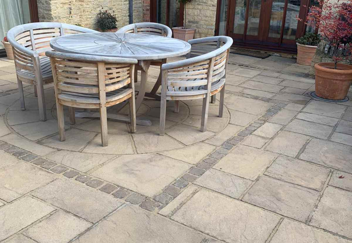 new patio used for outdoor dining